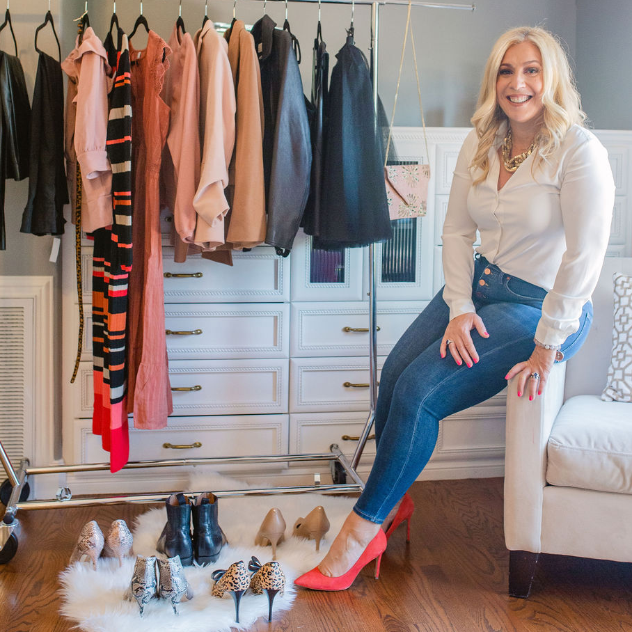 dawn posing with clothes and shoes